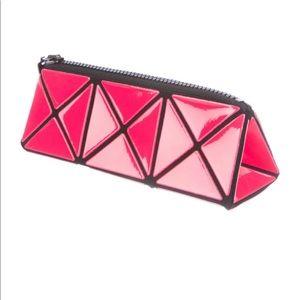 BAO BAO Issey Miyake Pink Prism cosmetic case -NEW